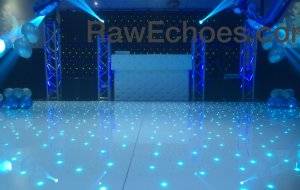 best indian asian wedding djs raw echoes white dj booth set up 07940084117