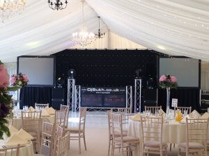 marquee Kelmarsh Hall INDIAN ASIAN WEDDING larger reception