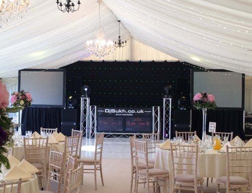 Bath Racecourse  Asian wedding DJ & Lighting Package.