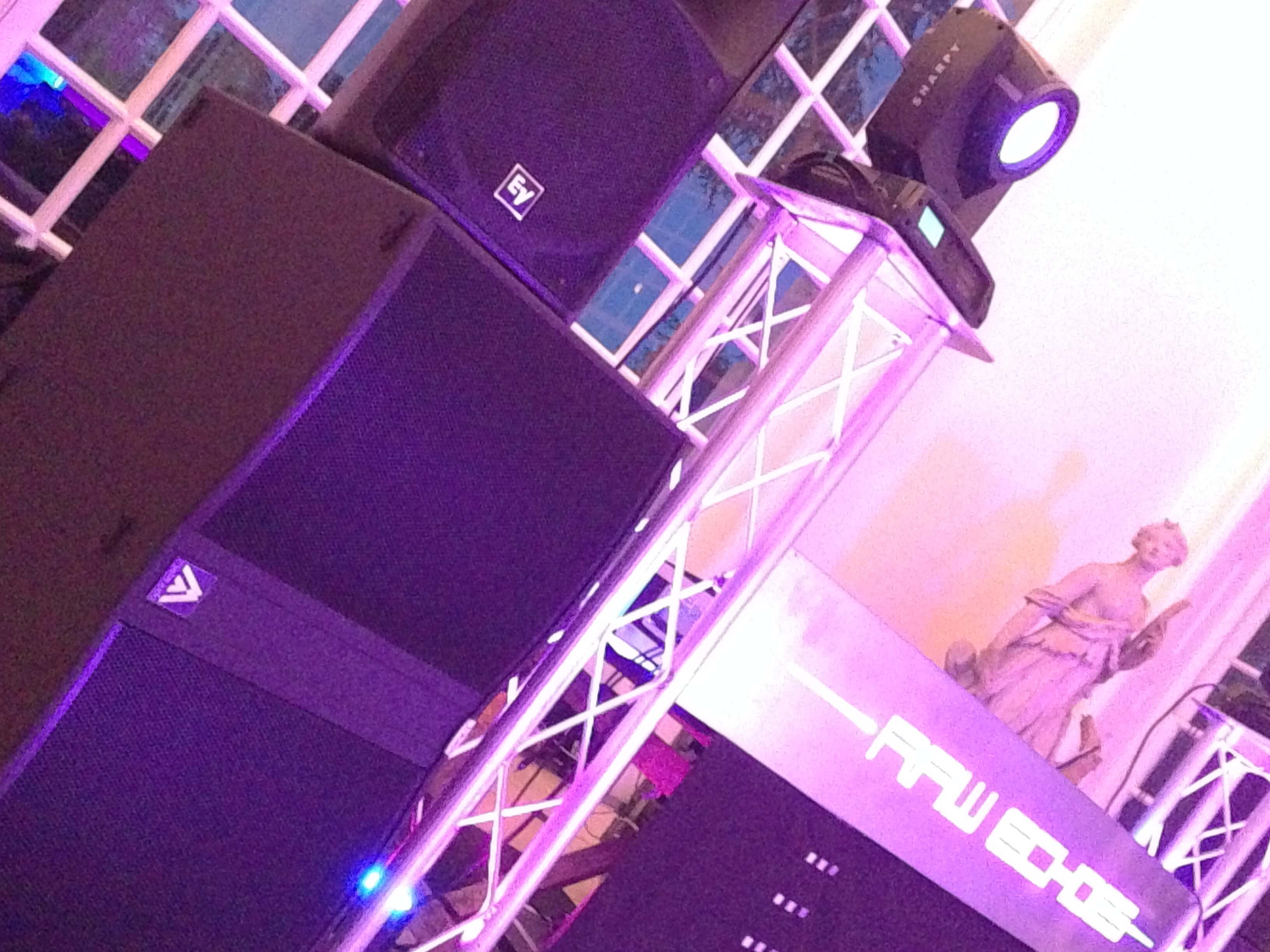 PA Sound System Speaker Hire London. NEC Birmingham Light Gaming SHOW