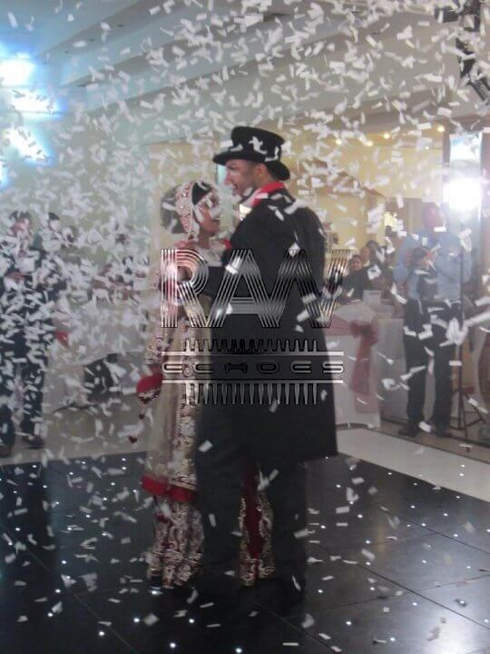 confetti cannons wow factor asian wedding